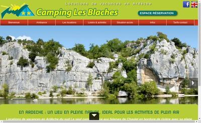 Site internet de Camping les Blaches