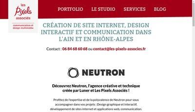 Site internet de Les Pixels Associes