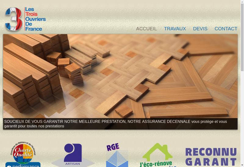 Capture d'écran du site de Les 3 Ouvriers de France