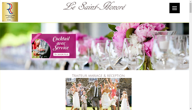 Capture d'écran du site de Le Saint Honore