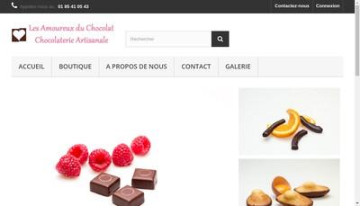 Site internet de Les Amoureux du Chocolat