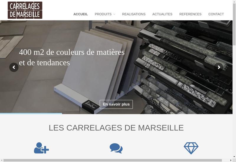 Capture d'écran du site de Les Carrelages de Marseille