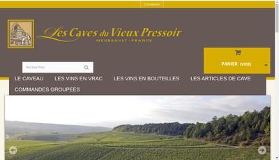Site internet de Les Caves du Vieux Pressoir SAS
