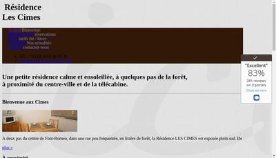 Site internet de Hotel des Cimes