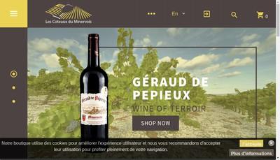 Site internet de Cave Cooper Coteaux Minervois