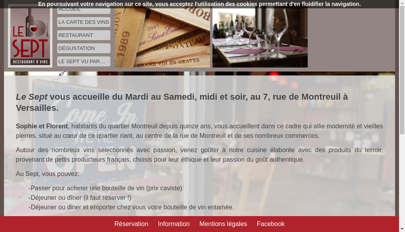 Capture d'écran du site de Soflo Versailles