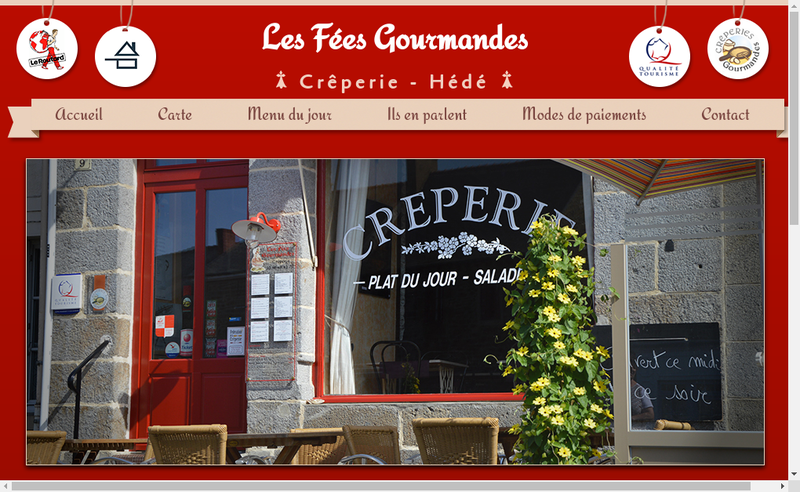 Capture d'écran du site de Les Fees Gourmandes