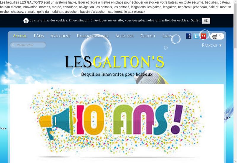 Capture d'écran du site de Les Galton'S