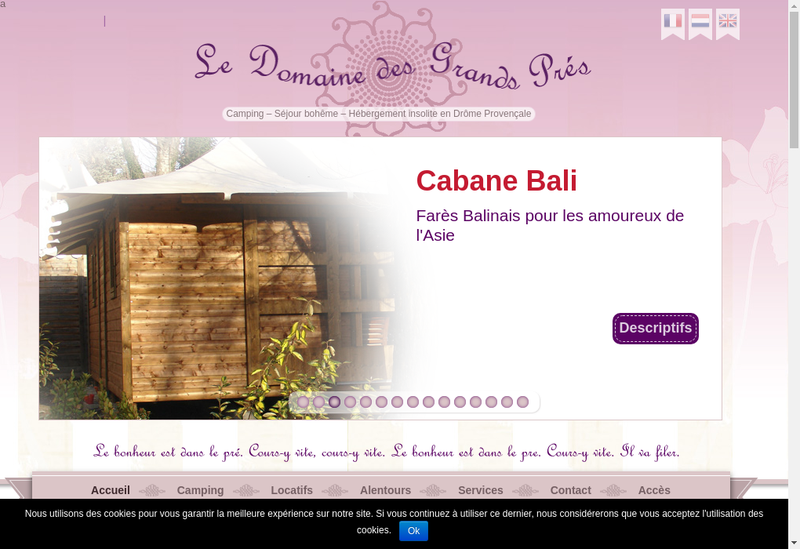 Capture d'écran du site de La Dorlotte