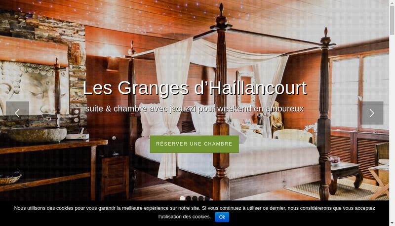 Capture d'écran du site de Les Granges
