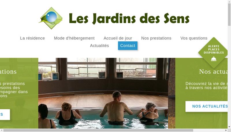 Capture d'écran du site de Les Jardins des Sens
