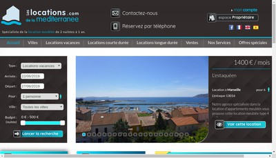 Site internet de Les Locations de la Mediterranee