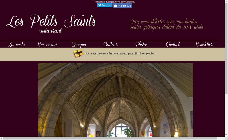 Capture d'écran du site de Les Petits Saints