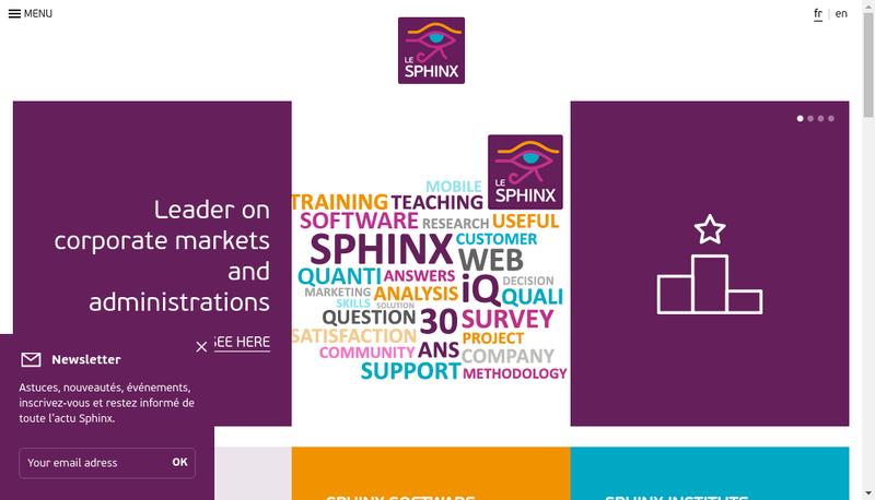 Capture d'écran du site de Le Sphinx