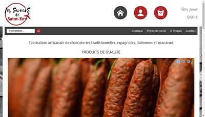 Site internet de Les Saveurs de Saint-Ex