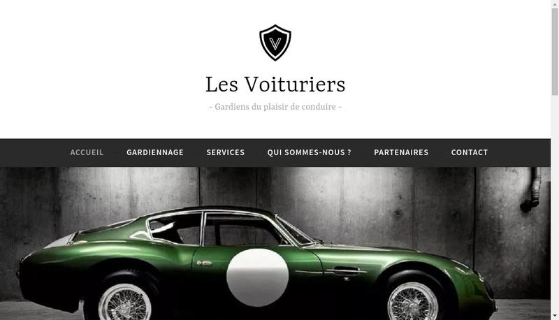 Capture d'écran du site de Les Voituriers