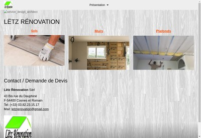 Site internet de Letz Renovation