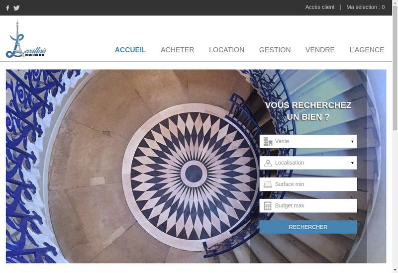 Capture d'écran du site de Levallois Immobilier