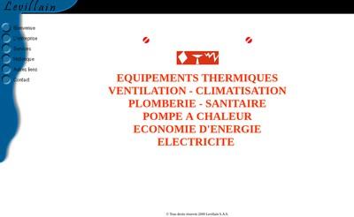 Site internet de Levillain Chauffage Sanitaire