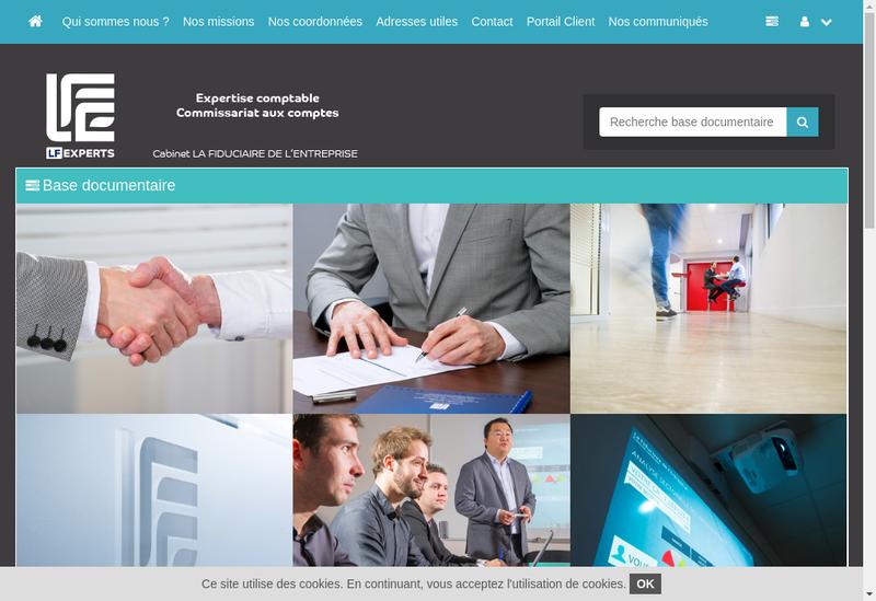 Capture d'écran du site de Lf Experts