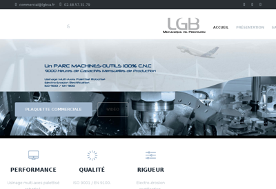 Capture d'écran du site de LGB