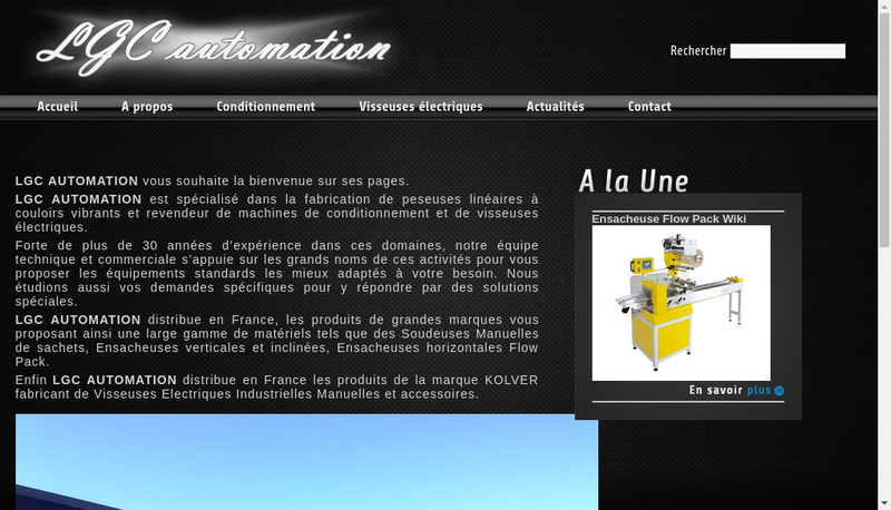 Capture d'écran du site de Lgc Automation