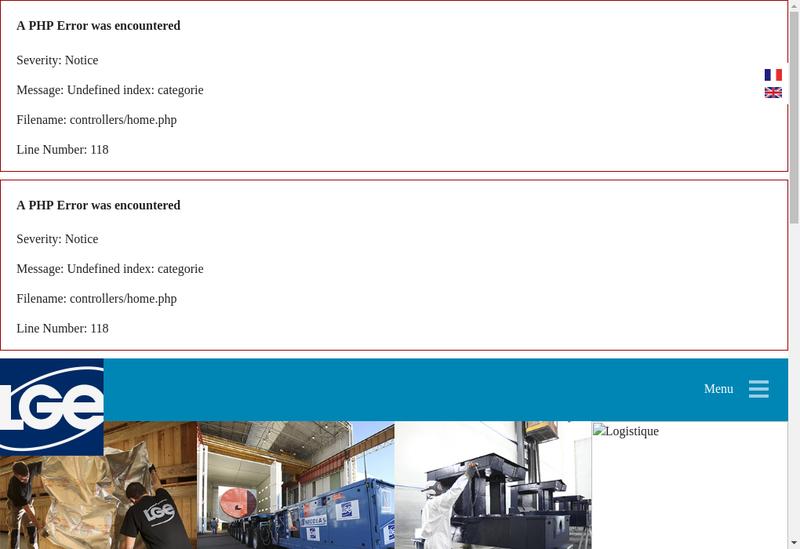 Capture d'écran du site de Logistique Globale Europeenne