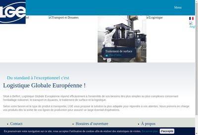 Site internet de Logistique Globale Europeenne