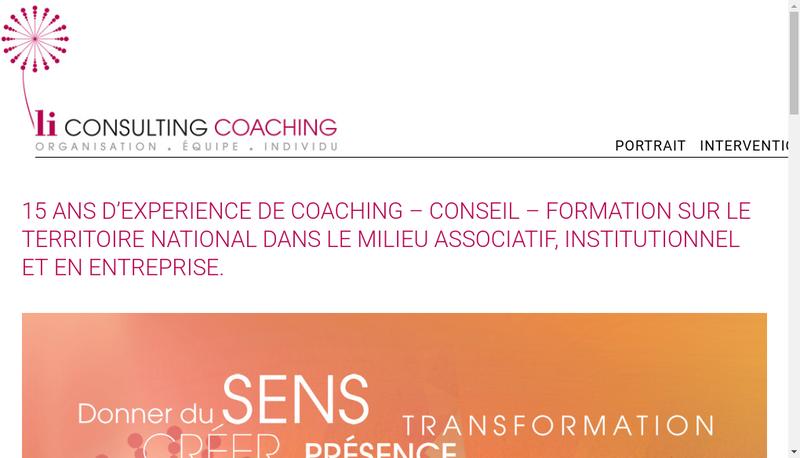 Capture d'écran du site de Li Consulting
