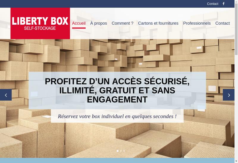 Capture d'écran du site de Liberty Box