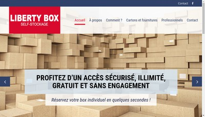 Site internet de Liberty Box