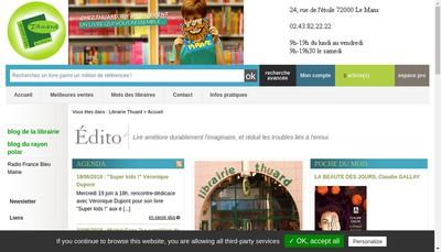 Site internet de Societe Thuard Librairie