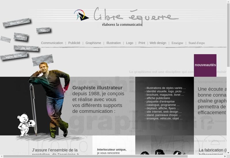 Capture d'écran du site de Libre Equerre Communication