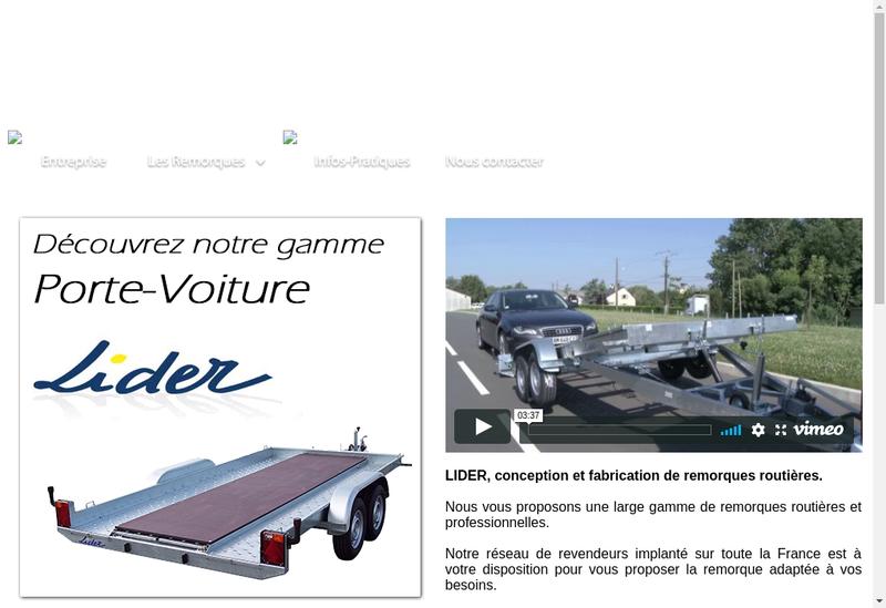 Capture d'écran du site de Lider