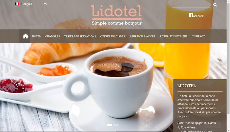 Capture d'écran du site de Lidotel