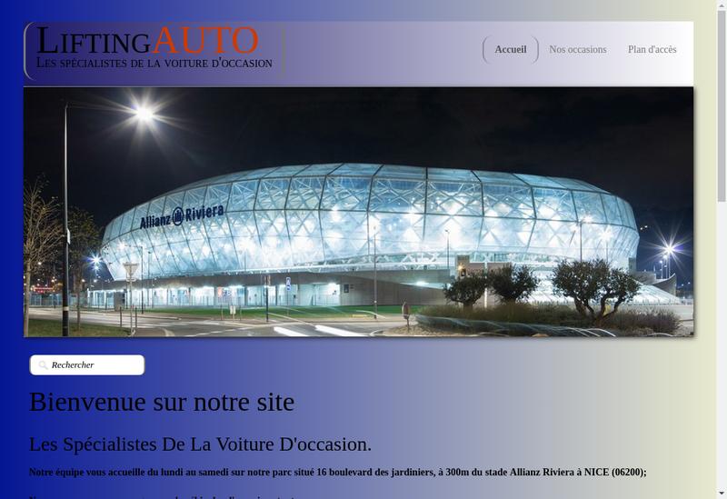 Capture d'écran du site de Lifting Auto