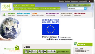 Site internet de Societed'Economie Mixte Locale Locmine Innovation Gestion des Energies Renouvelables