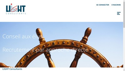 Site internet de Light Consultants