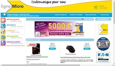 Site internet de Ligne Micro