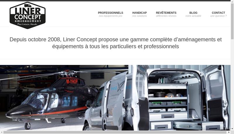 Capture d'écran du site de Liner Concept