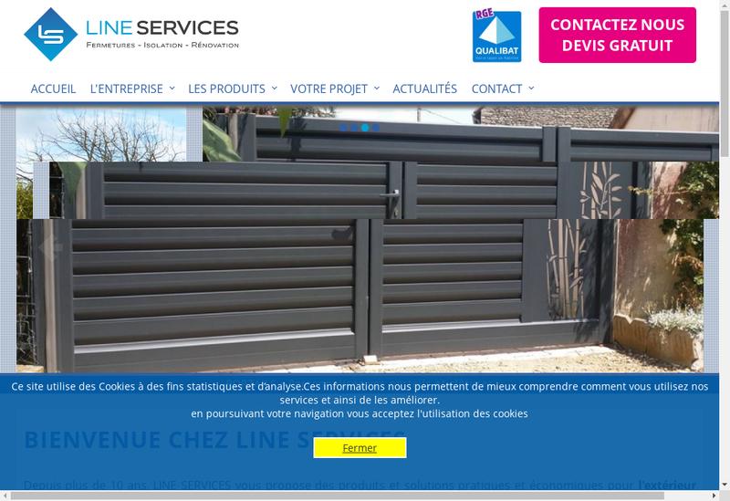Capture d'écran du site de Line Services