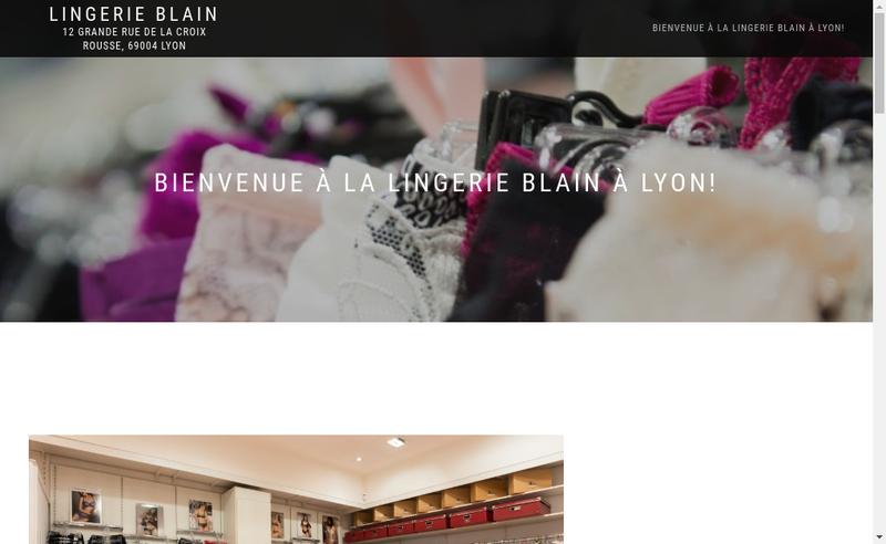Capture d'écran du site de Lingerie Blain