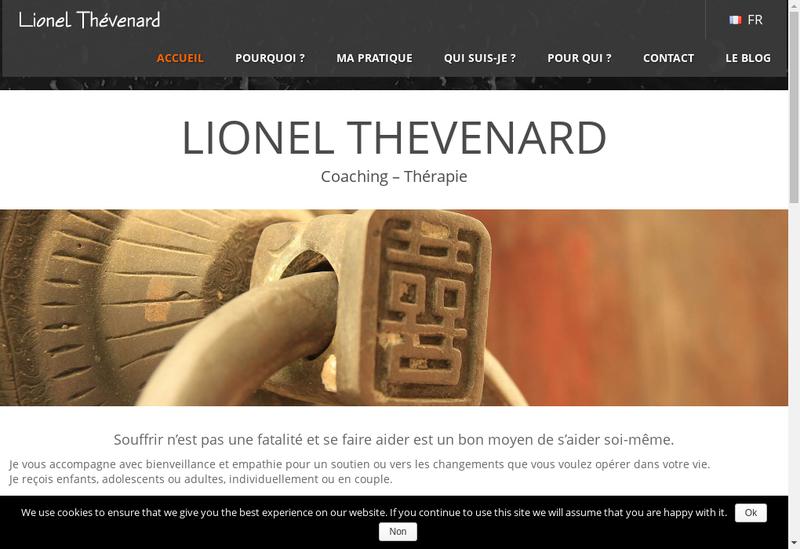 Capture d'écran du site de Lionel Thevenard