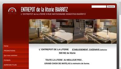 Site internet de Literie du Bab
