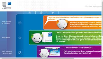 Capture d'écran du site de Litesoft