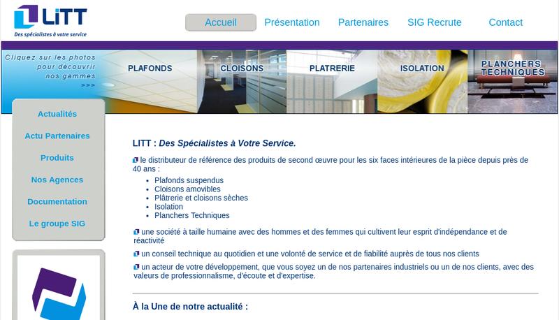 Capture d'écran du site de Litt Diffusion SA