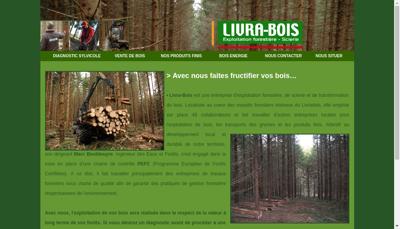 Capture d'écran du site de Livra Bois