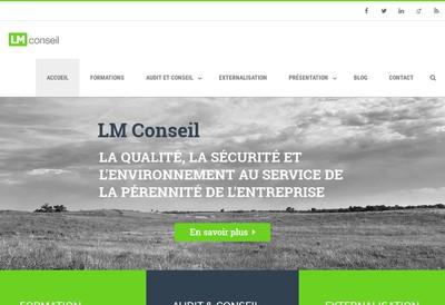 Site internet de Lm Conseil