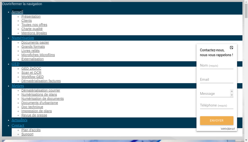 Capture d'écran du site de Les Nouvelles Solutions d'Entreprise
