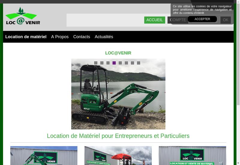 Capture d'écran du site de Loc@Venir